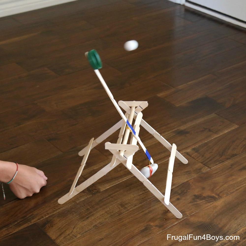 How To Make A Trebuchet With Craft Sticks