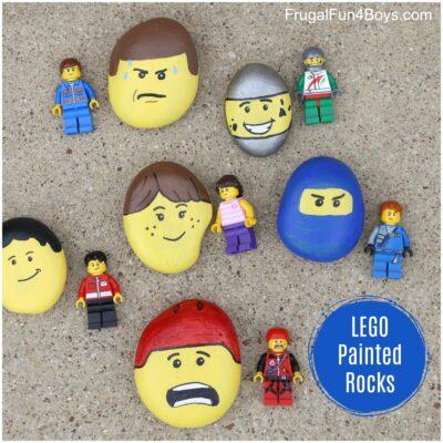 LEGO® Minifigure Painted Rocks