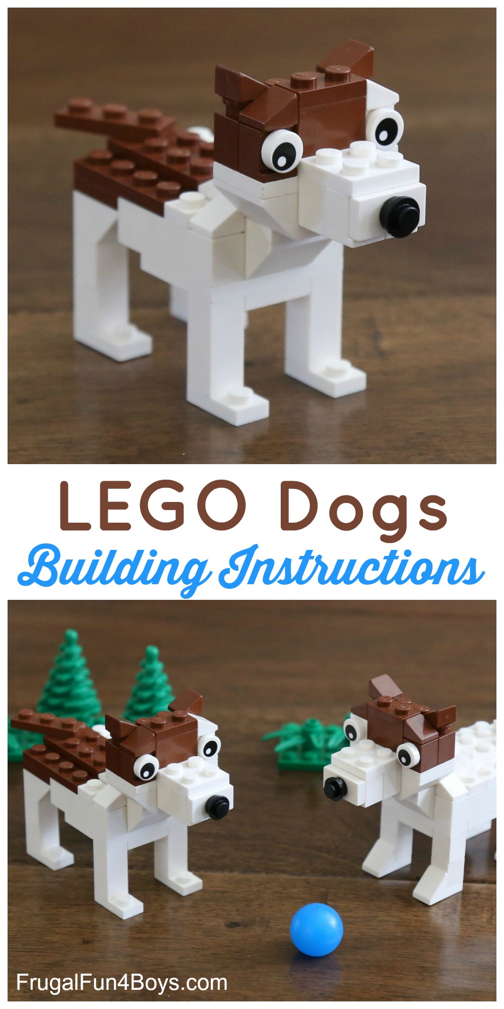 Build A Terrier Dog With Lego Bricks Frugal Fun For Boys And Girls