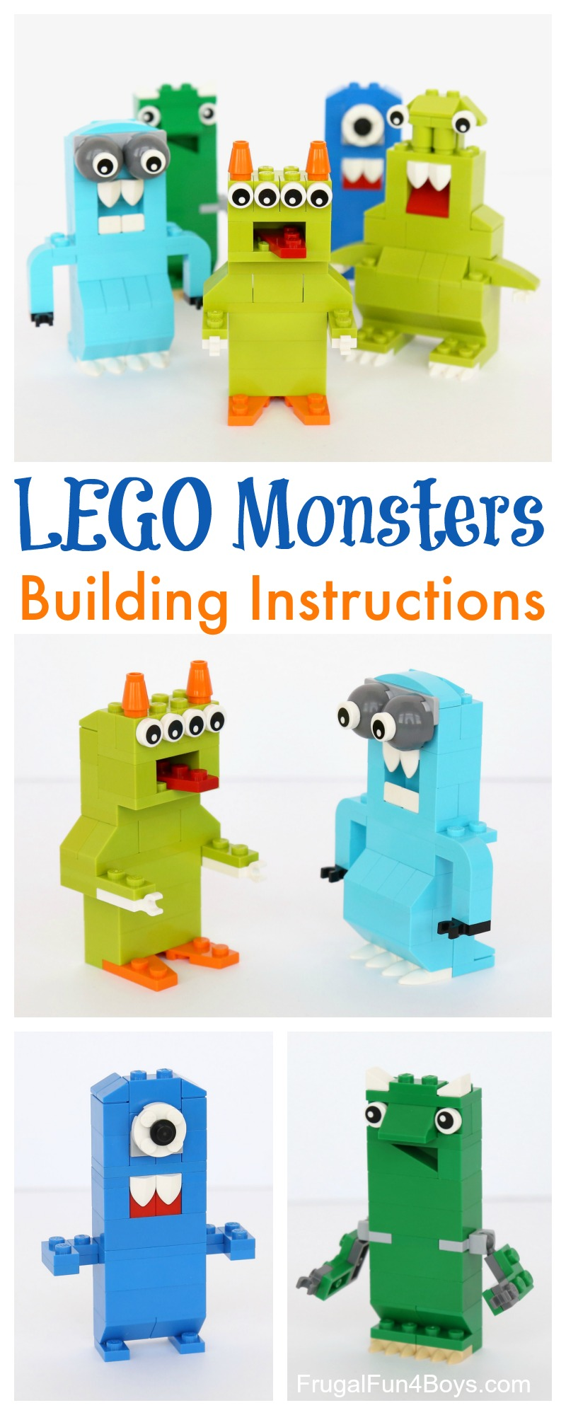 we have been on a lego kick lately since were so excited about the fact that our second lego project book is releasing very soon this monster challenge - Lego Monstre