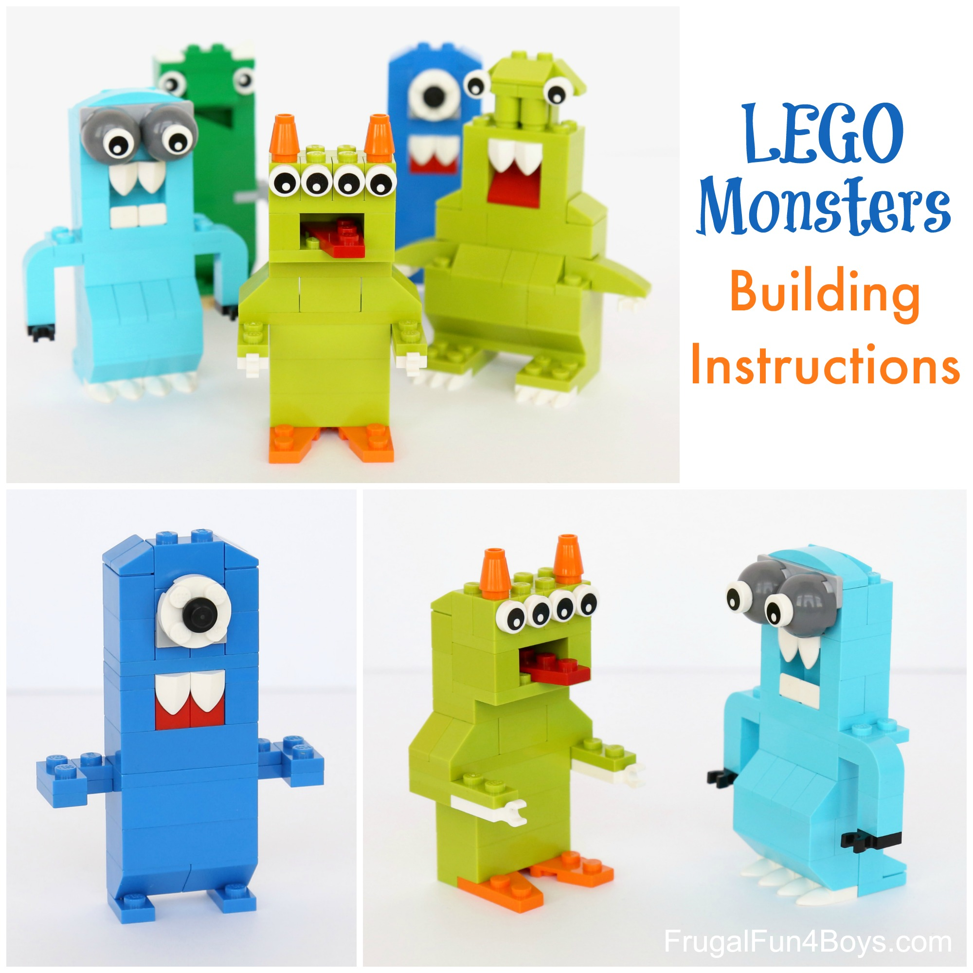Lego Monsters Building Instructions Frugal Fun For Boys And Girls