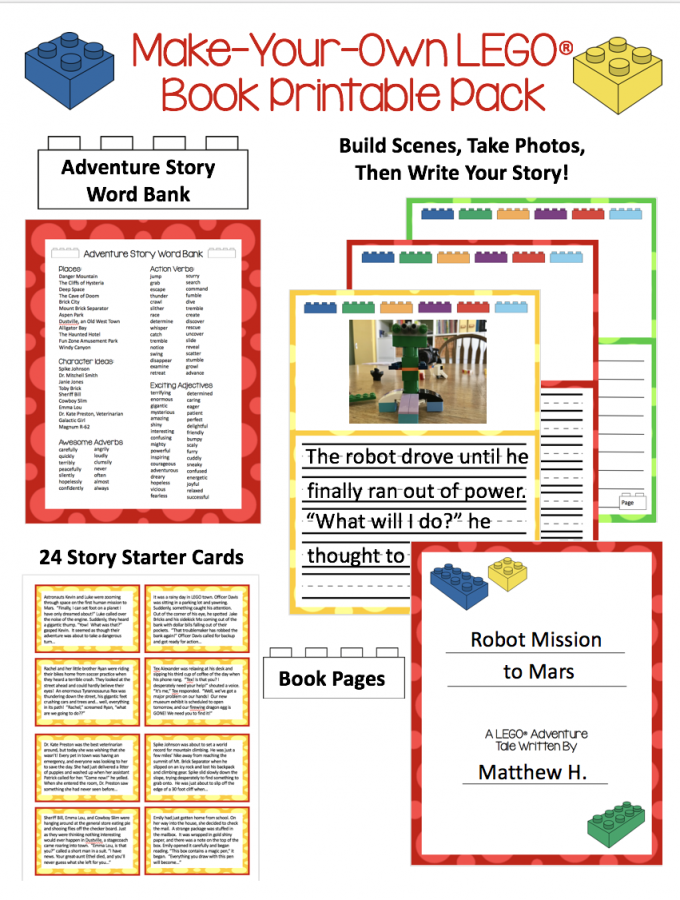 Make Your Own LEGO® Book Printable Pack