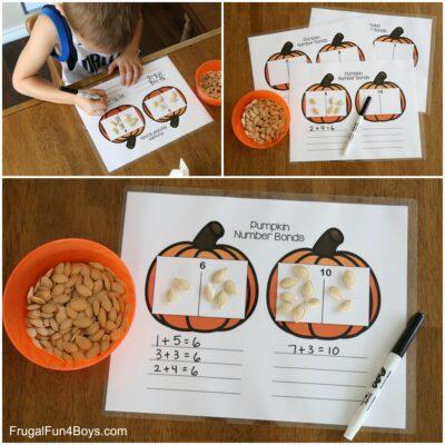 Pumpkin Number Bonds Addition Activity