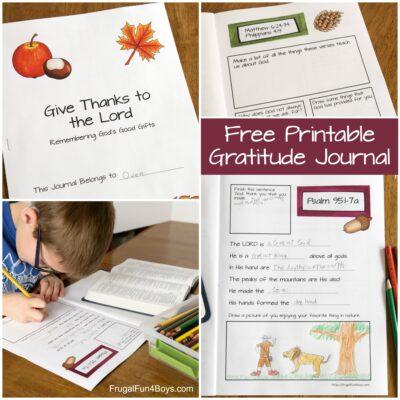 Printable Gratitude Journal for Kids