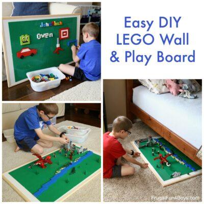 Easy DIY LEGO Wall & Play Board