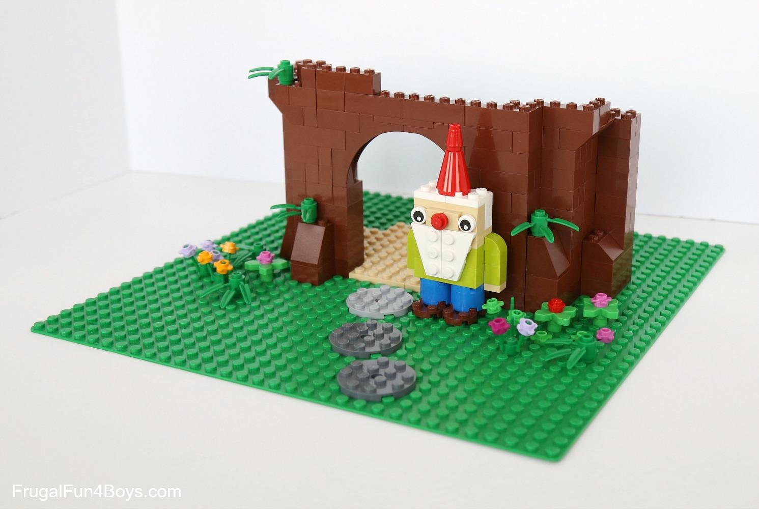 Build A Lego Gnome Garden Frugal Fun For Boys And Girls