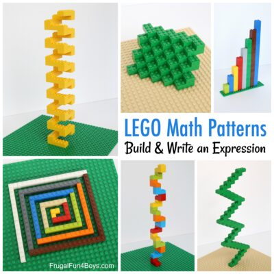 Build Math Patterns with LEGO Bricks