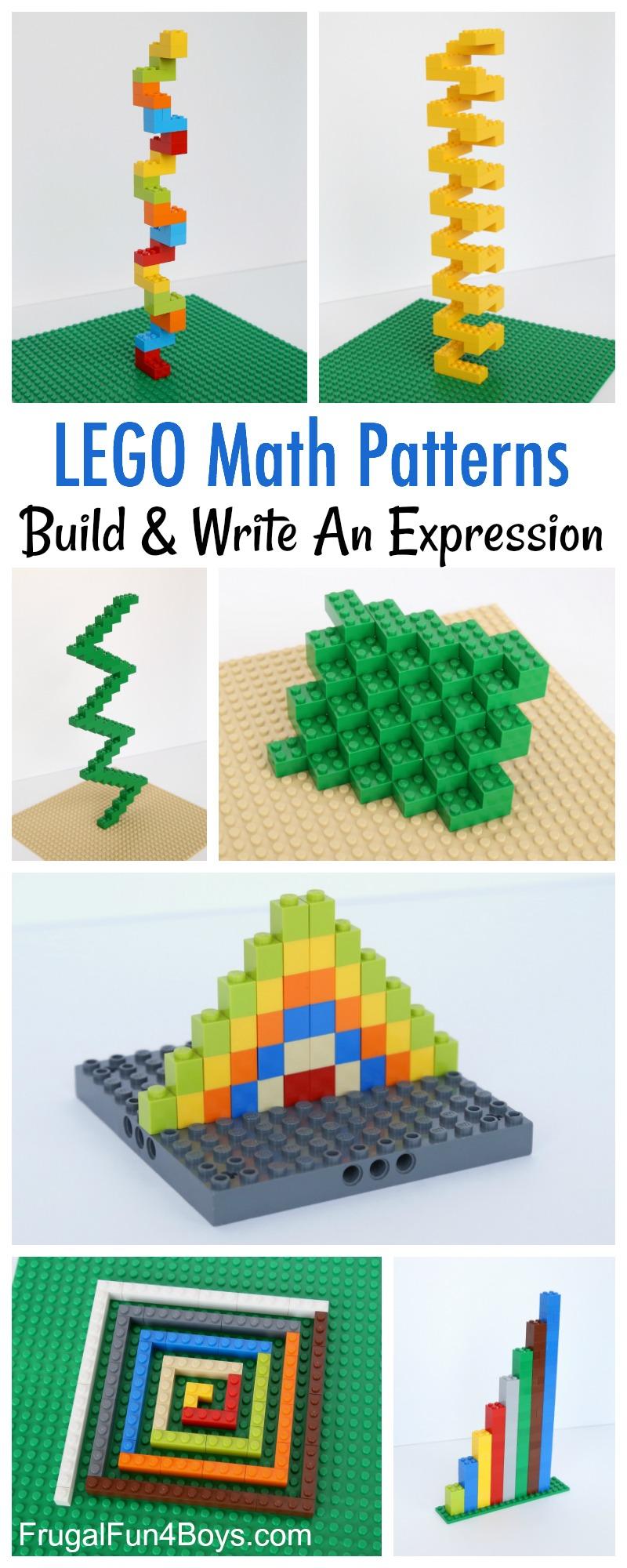 Build Math Patterns with LEGO Bricks