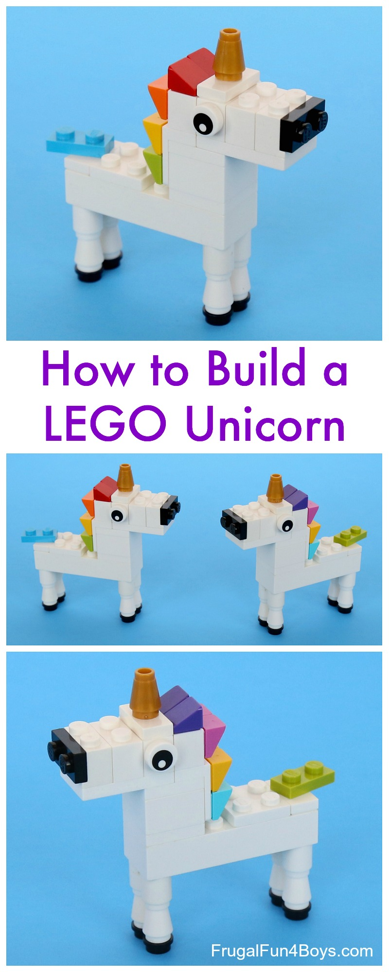 Lego Unicorn Building Instructions Frugal Fun For Boys And Girls