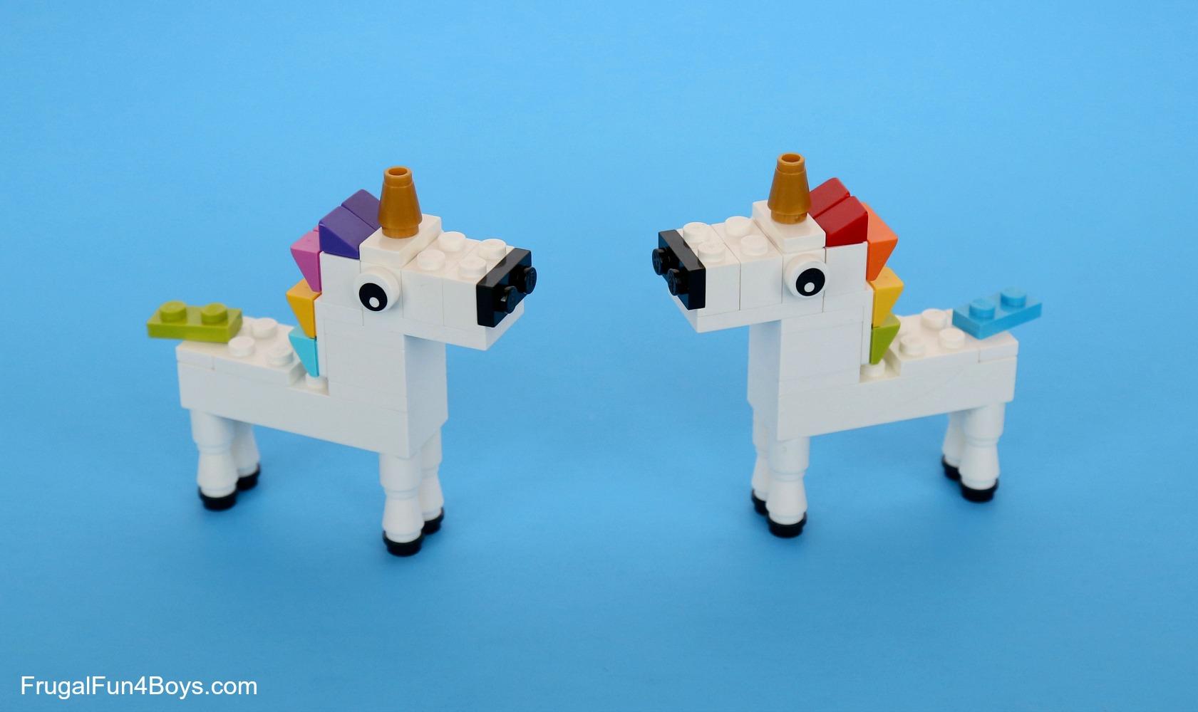 how to build a lego unicorn