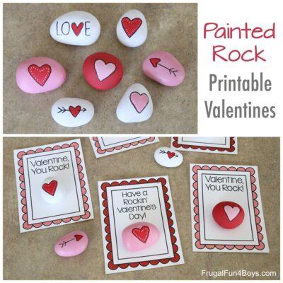 Painted Rock Printable Valentines