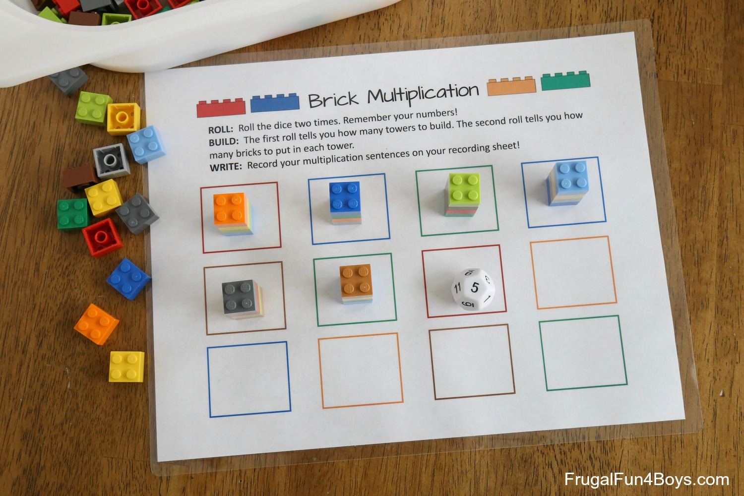 Printable Lego Multiplication Game Frugal Fun For Boys And Girls