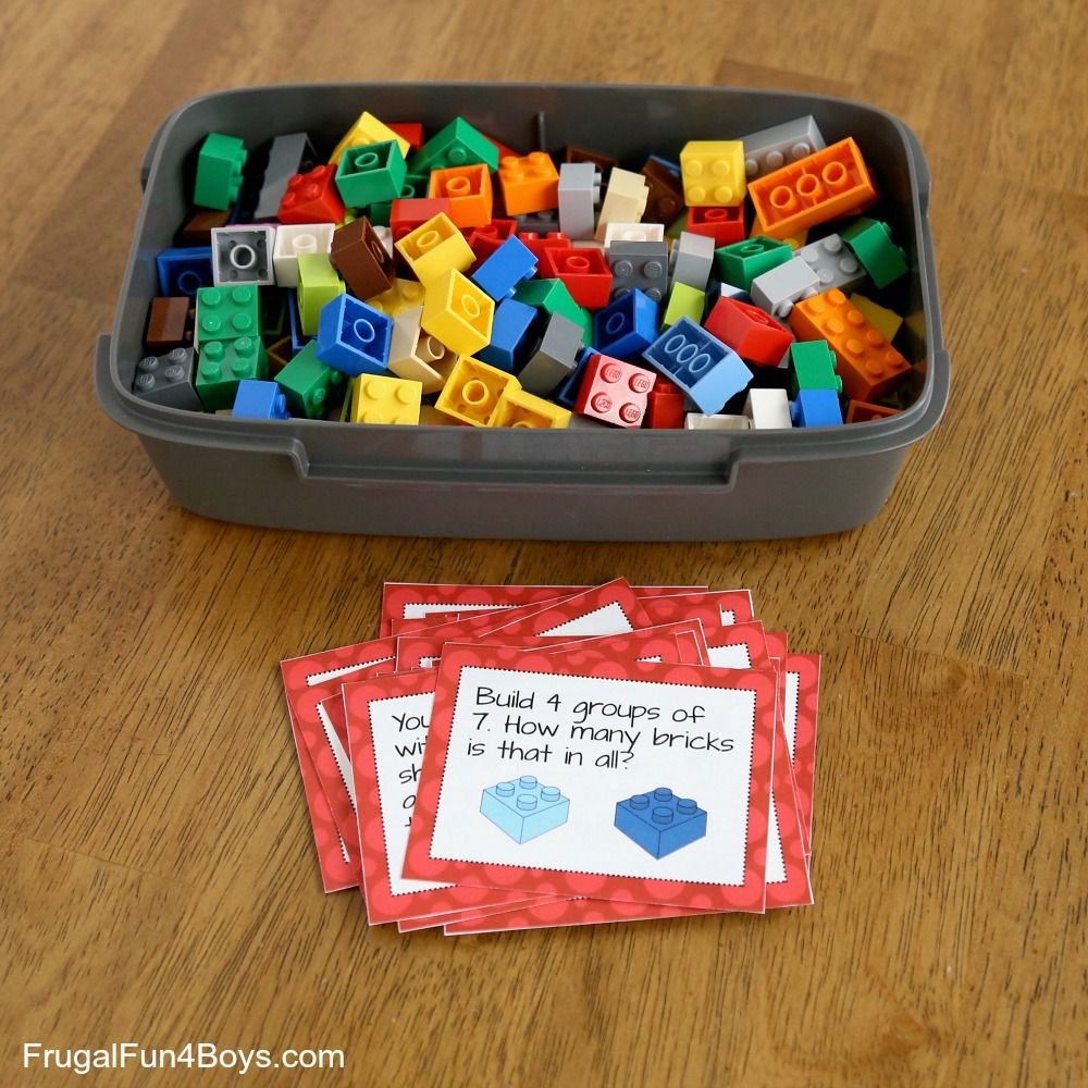 LEGO Math Printable Challenge Cards