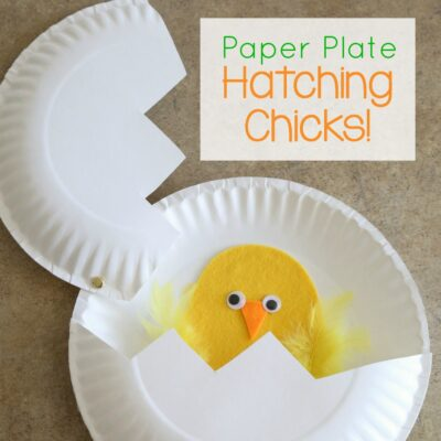 Paper Plate Craft: Hatching Chicks!