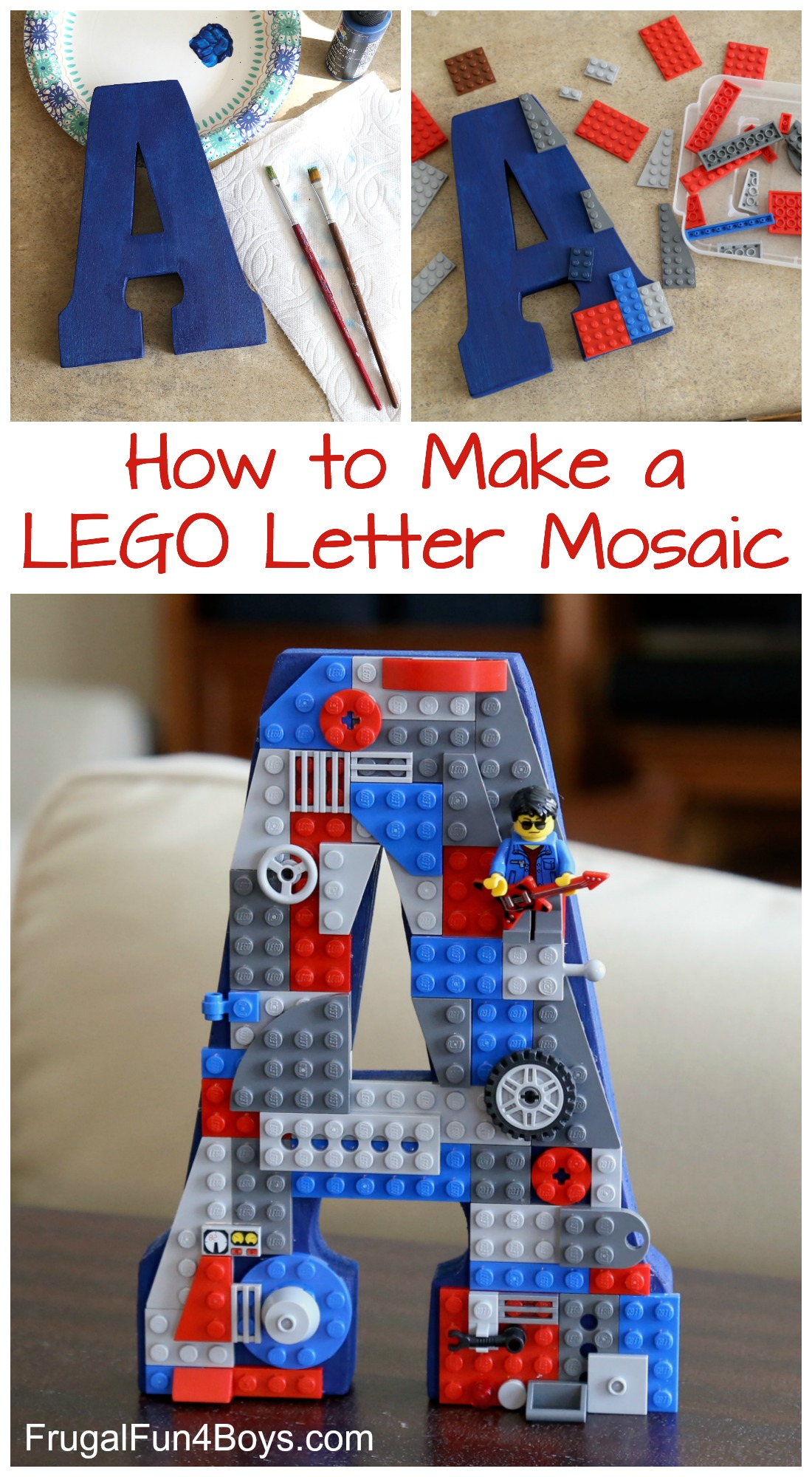 How To Make A Letter Mosaic With Lego Bricks