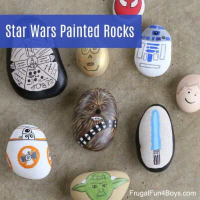 You won't need the force to make these awesome Star Wars painted rocks!