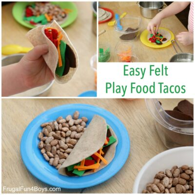Let's Taco 'bout these awesome EASY play food tacos!
