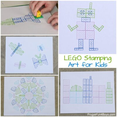 LEGO Stamping: It's Art with Bricks!
