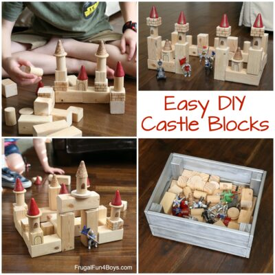 Super EASY (and Cheap!) DIY Castle Building Blocks