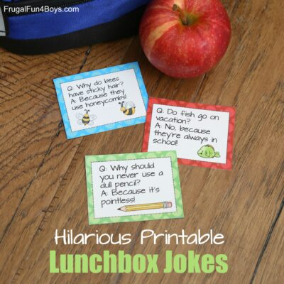 Make your child's day a whole lot funnier with these printable lunchbox jokes!