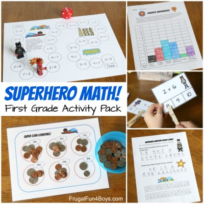 Superhero Math! A Printable Math Activity Pack for First Grade