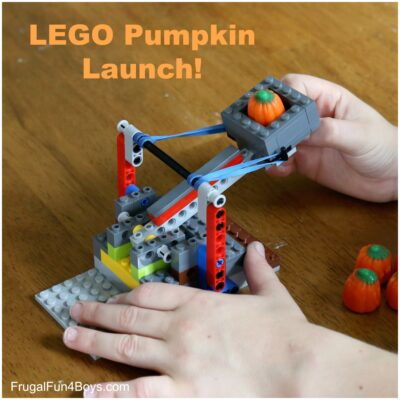 Pumpkin Launch! How to Build a Catapult with LEGO Bricks
