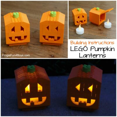 How to Build Pumpkin Lanterns with LEGO Bricks