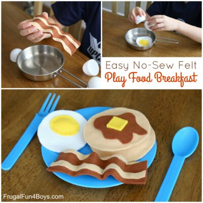 How to Make an ADORABLE No-Sew Felt Breakfast with Pancakes, Eggs, and Bacon