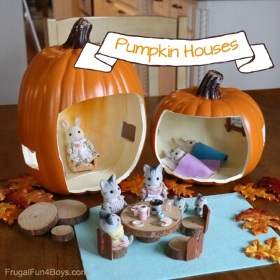 How to Make an Absolutely Adorable Pumpkin Doll House (with Accessories!)