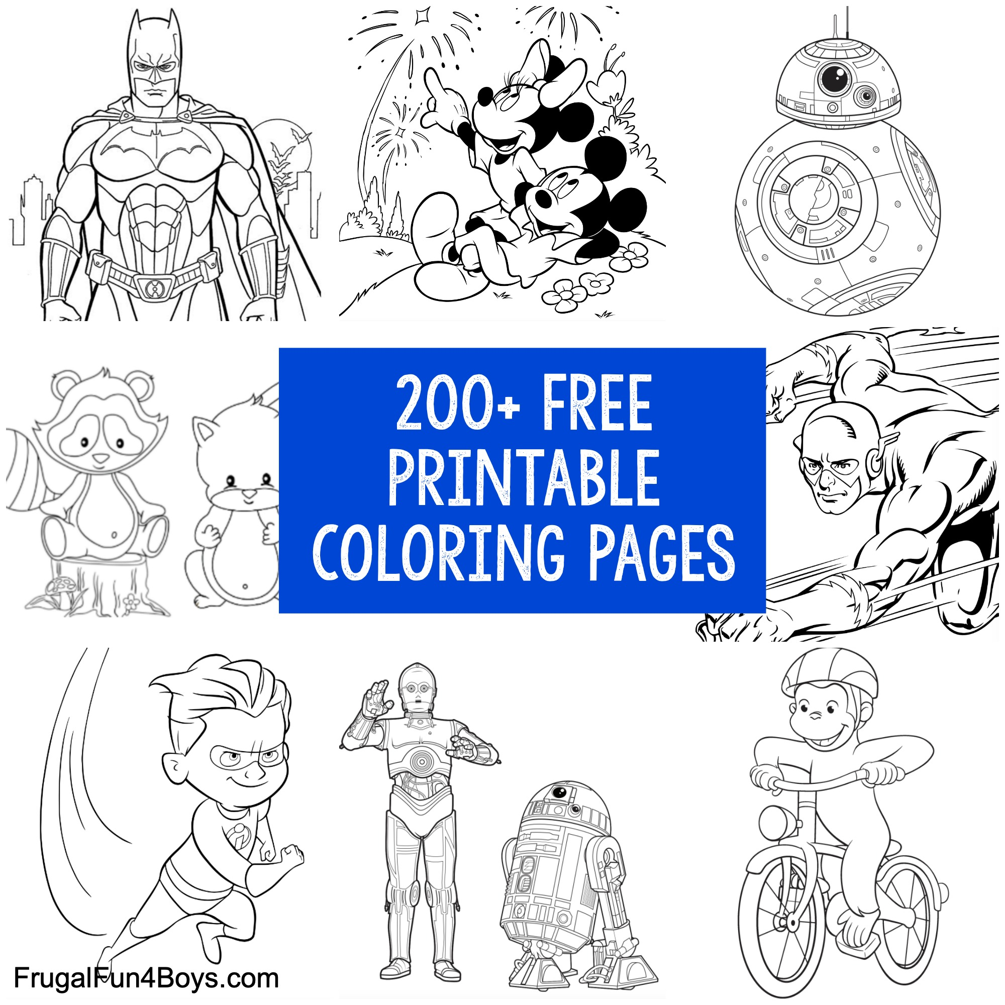 200 Printable Coloring Pages For Kids Frugal Fun For Boys And Girls