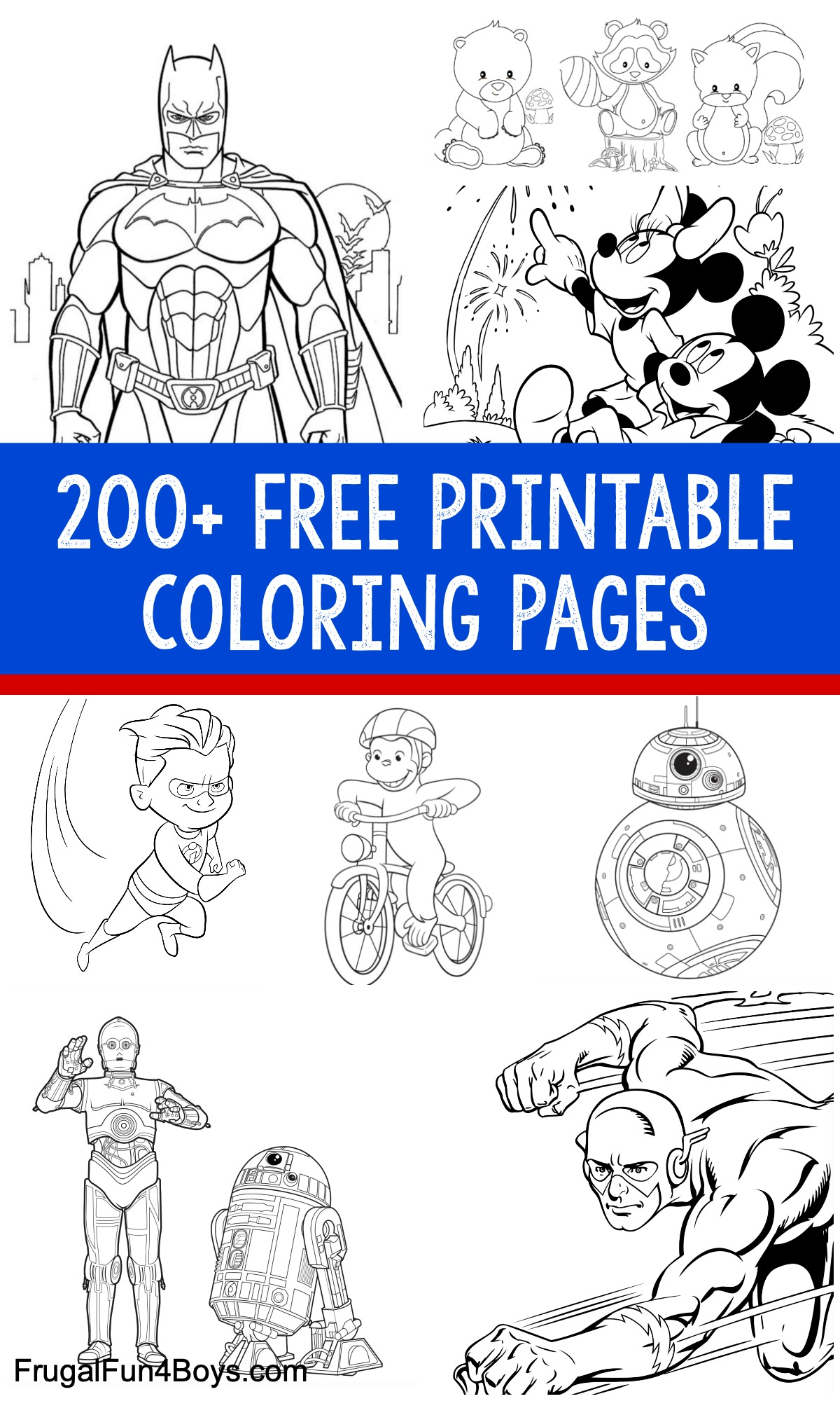 200+ Free Printable Coloring Pages