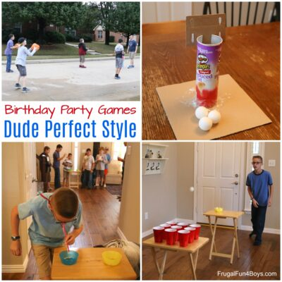 Awesome Game Ideas for a Dude Perfect Style Birthday Party