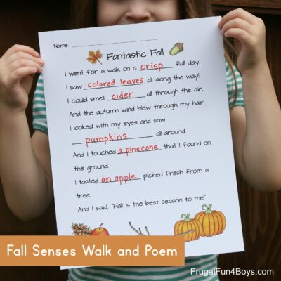 Fall Five Senses Walk Fill-in-the-Blanks Poem
