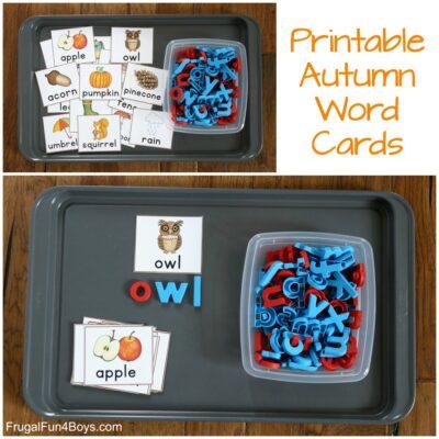 Printable Fall Word Cards
