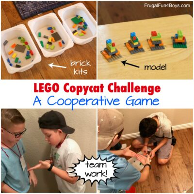 LEGO Copycat Challenge – A TOTALLY Fun Cooperative Game