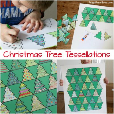 Collaborative Art with Christmas Tree Tessellations
