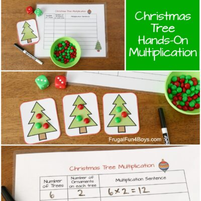 Christmas Tree Hands-On Multiplication Activity