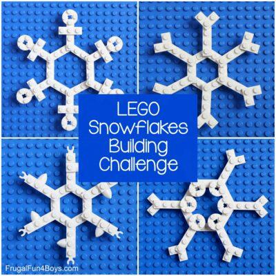 LEGO Snowflakes Building Challenge