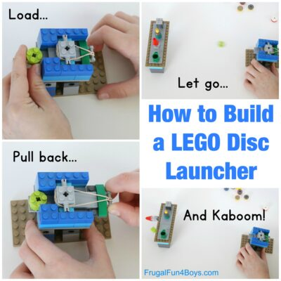 How to Build a LEGO Disc Launcher: A fun brick contraption!