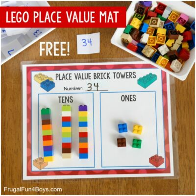 Hands-On Place Value Math Activity with LEGO Bricks