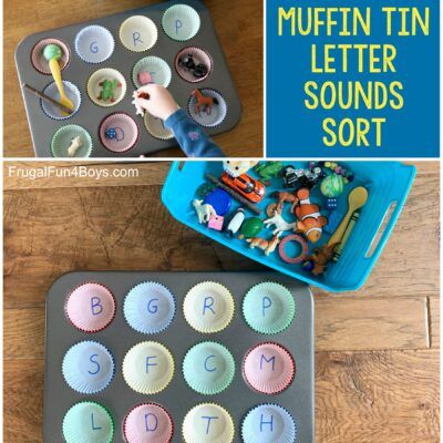 Muffin Tin Letter Sounds Activity