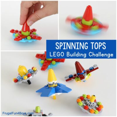 Spinning Tops LEGO Building Idea
