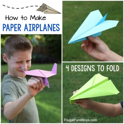 How to Make Awesome Paper Airplanes! 4 Designs
