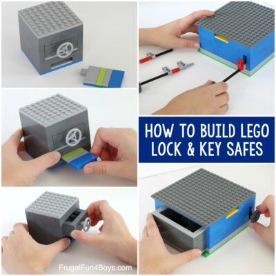 How to Build LEGO Safes with Lock & Key