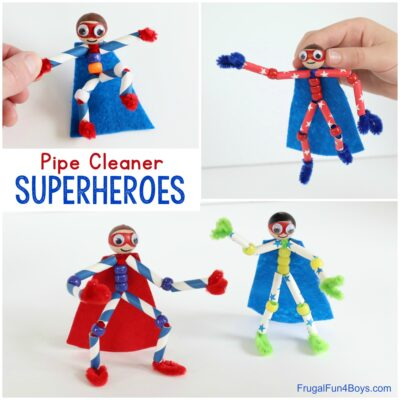 How to Make Pipe Cleaner Superheroes