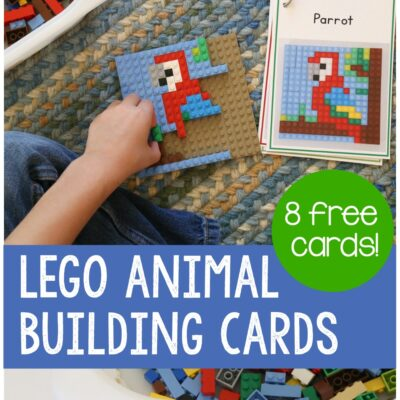 LEGO Animal Mosaic Building Cards