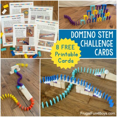 Engineering Challenges with Domino Chain Reactions (Printable Cards!)