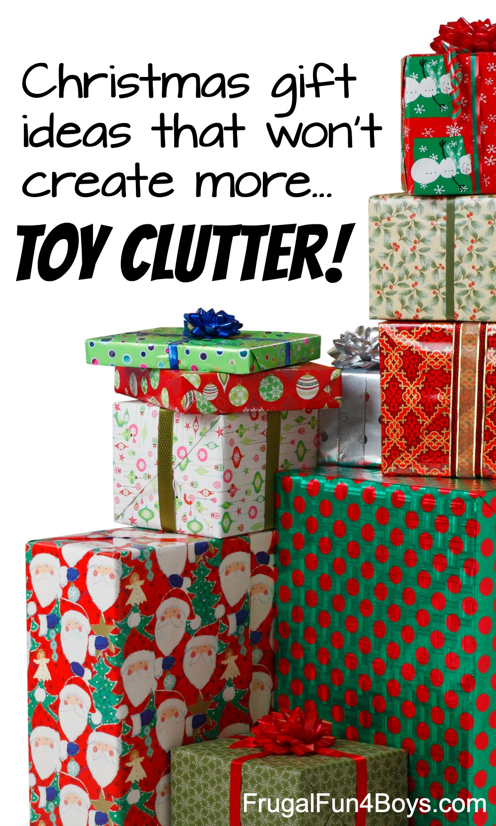 Christmas Gift Ideas for a Clutter,Free Christmas , Frugal