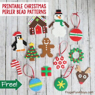 Printable Christmas Perler Bead Patterns