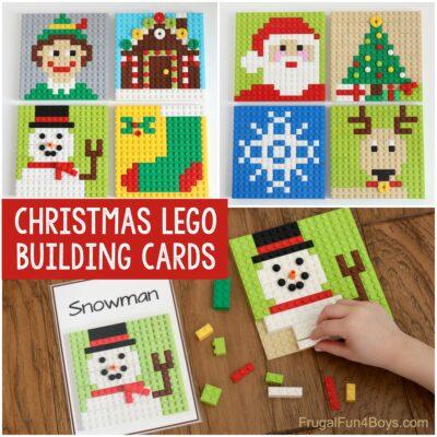 Printable LEGO Christmas Building Cards